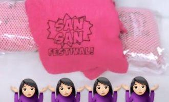 """El festival San San, casi sin mujeres en cartel, regala toallas rosas para """"apoyar el feminismo"""""""